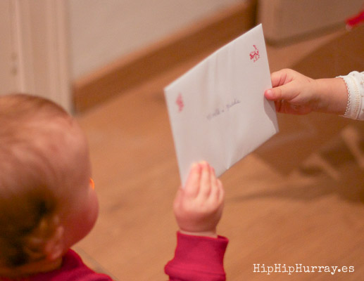 Giving a Christmas Card to at the Christmas Art & Craft Day, by Hip Hip Hurray